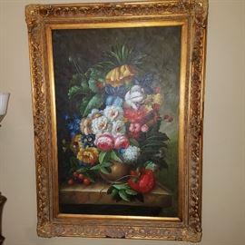 Large floral artwork