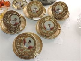Nippon PORTRAIT cups and saucers