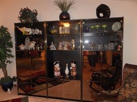 wall units with mirrored fronts (3 pieces)