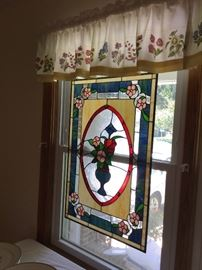 One of many stained glass window panels.