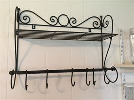 Iron pot rack.