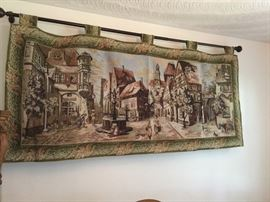 Belgium Tapestry with Iron Rod