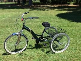 Pair of Kent Bayside tricycles in near mint condition.