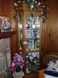 the second of two curio cabinets filled with collectibles!
