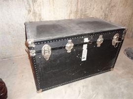 old travel trunk chest