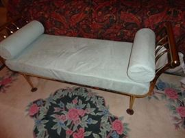 Chaise lounge seat and area rug