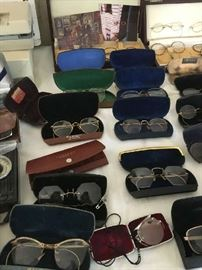 Antique and vintage glasses with cases