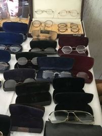 Vintage and Antique spectacles and cases