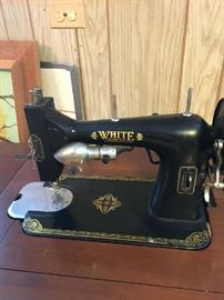 Antique White electric sewing machine