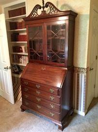 Spectacular mahogany secretary  C.1850-1860's