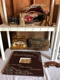 Fishing sign and hook rack cowboy rustic sign  train bookends