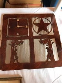 Cut  Metal clock