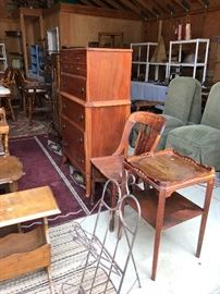 Miscellaneous wood tables and chairs