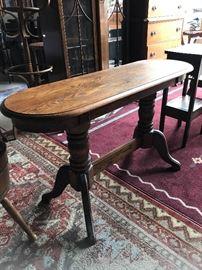 Beautiful dark wood oak sofa table
