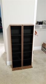 Two DVD/VHS storage towers-one SOLD