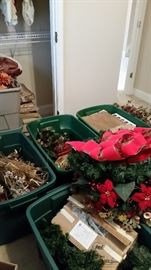 More Christmas decor (storage tubs & lids available for purchase)