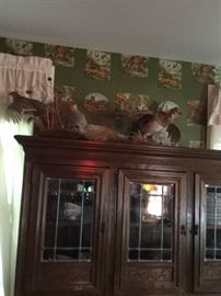 China cabinet and table with six chairs for sale