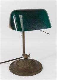 Lot 32: Emeralite Desk Lamp No. 8734