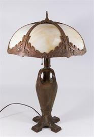 Lot 33: Possibly Handel Slag Glass Shade Lamp