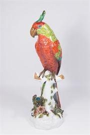 Lot 27: German Porcelain Parrot