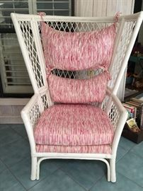 Rattan chair with cushions