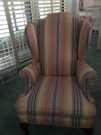 Pair of Century wing back chairs