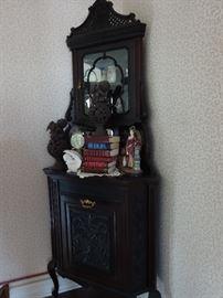 antique corner display