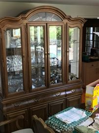 China cabinet with crystal