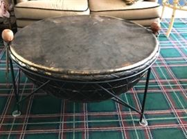 African Drum Table