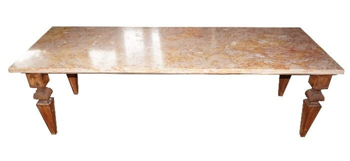Marble-top coffee table, $189