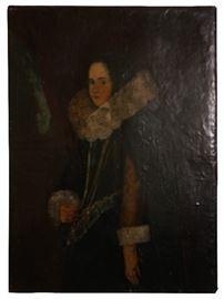 """Antique, Renaissance oil on canvas, 39"""" x 29"""", $790"""