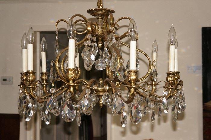 10-arm crystal Chandelier, $590