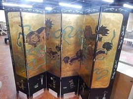 Oriental 6 Panel Room Screen