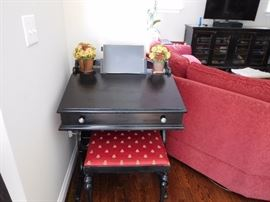 small  desk  and    bench