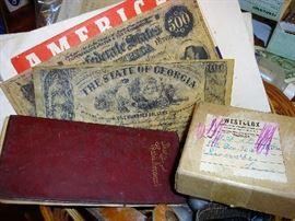 Replica money and other memorabilia