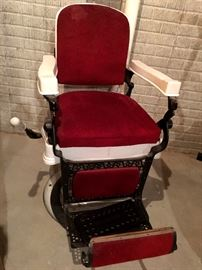 Hey Now...Want To Open A Salon?  Yep...It's A Antique Barber's Chair...