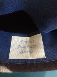 Felted wool hat label....check her out to see prices!