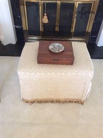 Ottoman with game box