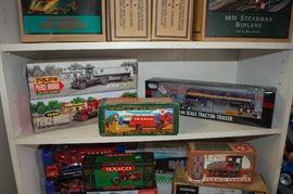 Many models; trains, cars, planes