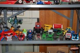Variety of toys and action figures