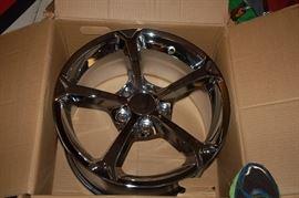 "New ""in the box chrome rim"" for Corvette Grand Sport 130C , 17 x 8.5 49mm CHR"