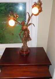 female figure vintage lamp
