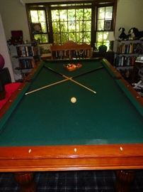Brunswick pool table including accessories and ping pong convertible top