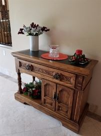 Serving Table with drawers and cupboard