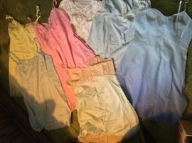 Full slips and nighties from the 60's