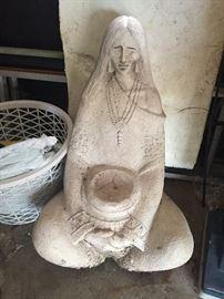 yard art- Native American statue