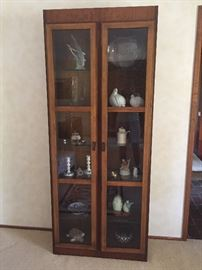 Glass front china hutch