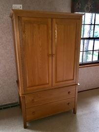 Clothing or TV armoire