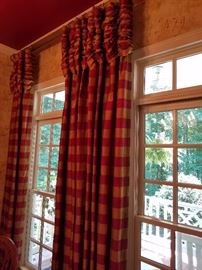 Buffalo Check Satin Curtains All window treatments for sale