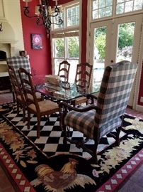 Country French glass table and chairs